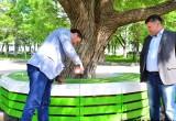 В Вологде состоялось торжественное открытие скамейки