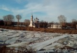 Уровень воды в реке Вологде сегодня-завтра достигнет максимального значения