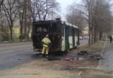 В Вологде сегодня загорелся автобус 25-го маршрута