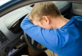 В Шекснинском районе водитель заснул за рулем и съехал в кювет