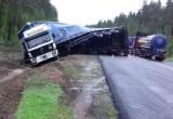 Под Чагодой грузовик уехал в кювет, пострадала девочка-пассажир