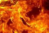 В вологодском Заречье сгорел крупный гараж
