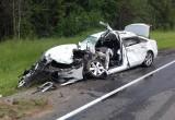 Под Устюжной шофер иномарки погиб, столкнувшись с автобусом