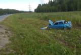 В Вашкинском районе легковушка вылетела с трассы в кювет