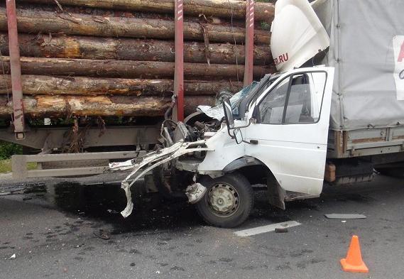 Под Грязовцем «Газель» врезалась в стоящий грузовик, пострадал водитель