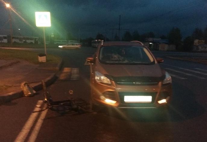 16-летнего велосипедиста сбила иномарка в Череповце