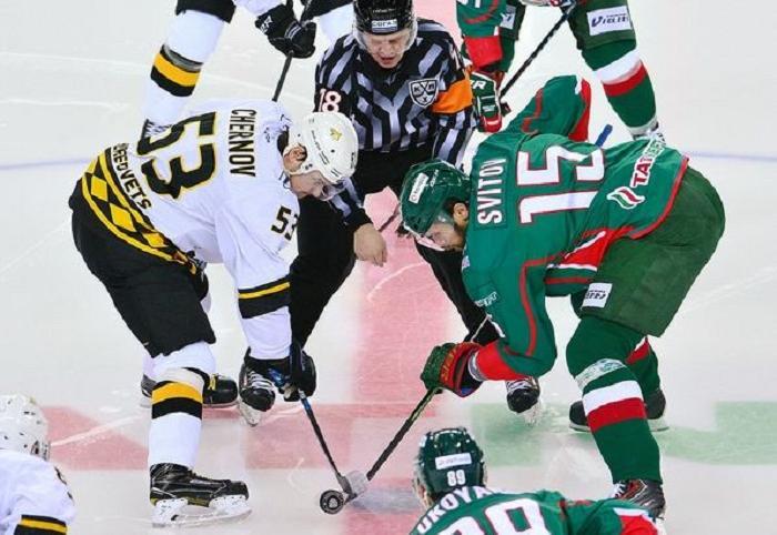 Хоккейная «Северсталь» в овертайме уступила «Ак Барсу»