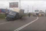На Окружном шоссе в Вологде столкнулись три автомобиля (Видео)
