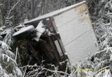 В Бабушкинском районе водитель УАЗа разбил машину на скользкой дороге