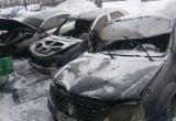 Две иномарки сгорели в Вологде этой ночью