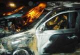 Дорогой японский кроссовер сгорел на трассе под Вытегрой