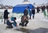 В Крещение в прорубь в Прилуках окунулись более тысячи вологжан