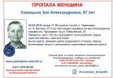 Объявлена в розыск 87-летняя жительница Череповца
