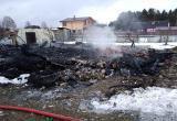 В Череповецком районе до основания сгорел деревянный дом (ФОТО)