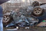 Пьяный лихач перевернулся на Окружном шоссе в Вологде (ФОТО)