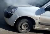 В Череповце загорелась иномарка (ВИДЕО)