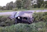 В Вологодском районе водитель без прав улетел в кювет