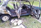 В Череповце дотла сгорел автомобиль ВАЗ (ФОТО)