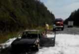 В Вологодской области на ходу загорелась иномарка (ФОТО)