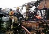 В Вологодской области полностью сгорел ангар с лесопродукцией: Ущерб устанавливается
