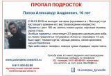 Шестнадцатилетнего подростка ищут в Вологде