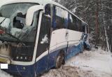 В Вологодской области улетел в кювет автобус с 30 пассажирами, есть пострадавшие (ФОТО)