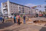 В начале апреля улицу Герцена в Вологде снова перекопают для ремонта ливневки