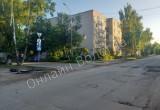 В Вологде водитель протаранил дорожный знак и потерял бампер