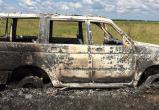 В Кич-Городецком районе автомобиль УАЗ сгорел вместе с его владельцем