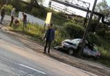ДТП в Череповце: автомобиль разбит полностью (ВИДЕО)