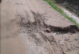Под Череповцом рассыпается недавно отремонтированная дорога