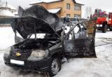 Вологжане чуть не сгорели заживо в своем автомобиле (ВИДЕО)