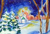 Рождественская ночь будет снежной, морозной и ветреной